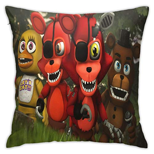 Bobaobao Bedding Sheets Five Nights at Freddy's Soft and Strong Soft and Comfortable Texture Pillowcases