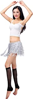 Women's Summer Beach Wrap Sequins Tassel Mini Skirts Belly Dance Hip Scarf Belt