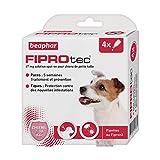 BEAPHAR - FIPROTEC 67 mg - Solution spot-on pour petits chiens (2-10 kg) – À base de Fipronil – Élimine les puces - Protège contre les infestations par tiques et puces – 4 pipettes de 0,67 ml