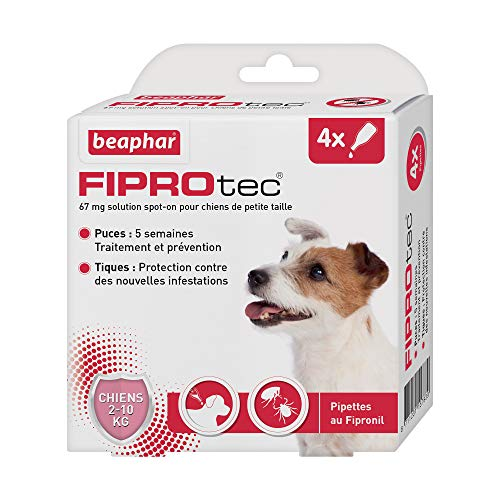 BEAPHAR - FIPROTEC 67 mg - Solution spot-on pour petits...