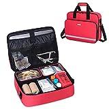 CURMIO Medical Supplies Bag Empty, Home Health Nurse Bag with 2 Detachable Pouches, First Aid Kits...