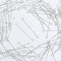 ファイニエ 9ピン シルバー 30mm 3cm 100個 両カン付き スチール製 ピン 接続金具 手芸材料 ハンドメイド 金具 アクセサリーパーツ AP1927