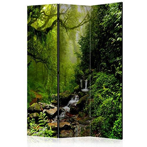 murando Raumteiler Foto Paravent Wald 135x172 cm beidseitig auf Vlies-Leinwand Bedruckt Trennwand Spanische Wand Sichtschutz Raumtrenner Design c-B-0193-z-b