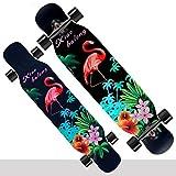 SMBYLL Tavola da Ballo Longboard tavola Intera Danza da Strada a Fiore Piatto Strada da Skateboard Skateboard (Color : B)