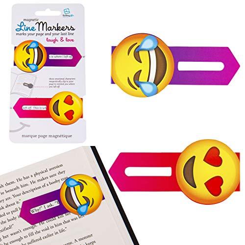 Line Markers Laugh&Love - Magnetische Lesezeichen: 2er Set Motiv Emoji