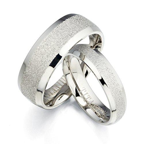 Gemini Free Engrave Groom & Bride Beveled Edge Matching Couple Wedding Anniversary Titanium Ring Set, UK Size H to Z6