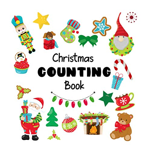 Christmas Counting Book: A Fun Interactive Picture Puzzle Book for 2-6 Year Olds (Counting Puzzle Books 1) (English Edition)