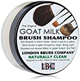LONDON BRUSH COMPANY Pure Goat Milk Shampooing Solide pour Pinceau de Maquillage Naturally Clean