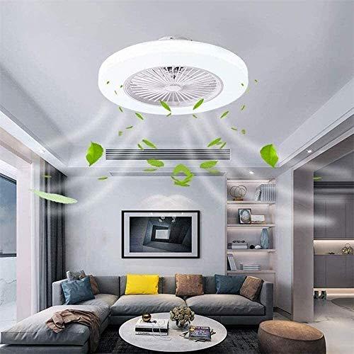 YYhkeby Ventilador de Techo silencioso de 80 vatios con iluminación y Control Remoto, 3 velocidades de Tiempo de 3 velocidades Lámpara Colgante de Ventilador, 58 cm Creativo Invisible Fan Ch Jialele