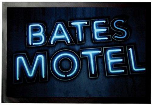 1art1 Psycho - Bates Motel Fußmatte Innenbereich und Außenbereich | Design Türmatte 60 x 40 cm