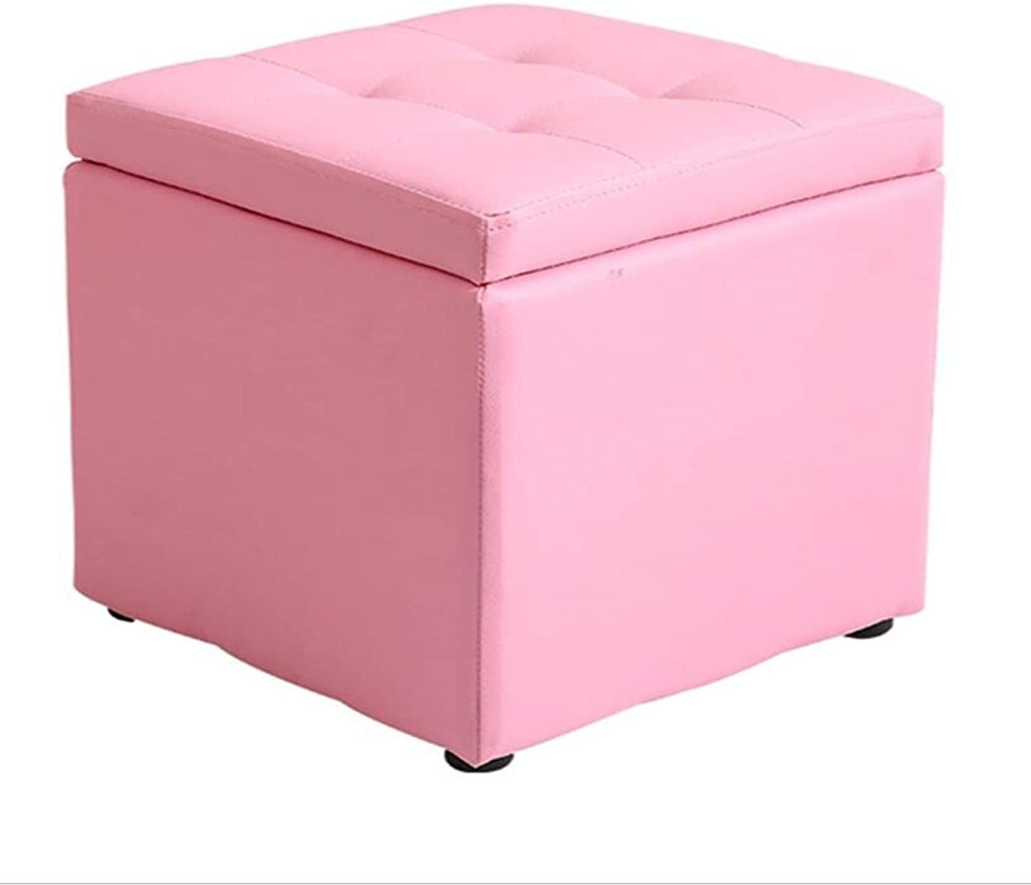 A-Fort DLDL Multifunctional Simple Sofa Stool Home Storage Stool 40  40  40cm (color   Pink)