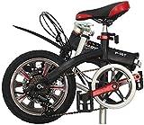 Mini bicicleta plegable de 14 pulgadas, 6 velocidades, bicicleta plegable compacta para viajes urbanos, deportes al aire libre, bicicleta para adultos, mujeres y hombres