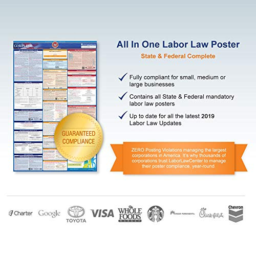 2017 Nevada (Spanish) Labor Law Poster – State & Federal Compliant – Laminated Photo #6