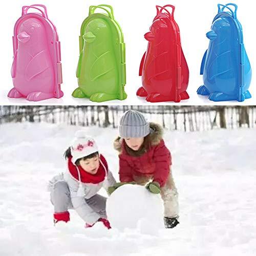 YDCX Pinguin Schneeschimmel, Schneeball Maker Clip, Outdoor Winter Schneespielzeug, Geschenk Für Kinder Erwachsene Schneeball Kämpfe Strandspiel, Spaß Winter Outdoor Aktivitäten (Pink)