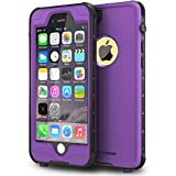 ImpactStrong iPhone 6 Plus 5.5 inch Waterproof Case [Fingerprint ID Compatible] Slim Full Body Protection for Apple iPhone 6 Plus & 6s Plus (5.5') - Purple
