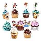 Colmanda cupcake toppers, 36 piezas topper de tarta cake topper animales cupcake toppers para suministros de diy decoración de magdalenas