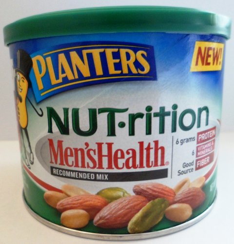Planters Nut-rition Men'sHealth MIx Almonds, Peanuts, & Pistachios 10.25 Oz (Pack of 4)