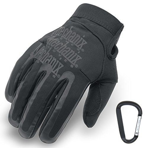 MECHANIX WEAR Element Einsatz-Handschuh, winddicht, wasserabweisend, Touchscreen-fähig + TS Tactical Gear-Karabiner, Original Glove in GrößeS: S