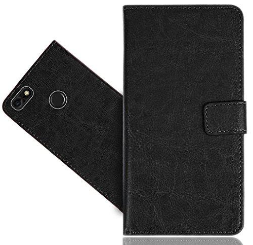 Huawei P9 Lite Mini Handy Tasche, FoneExpert® Wallet Hülle Cover Genuine Hüllen Etui Hülle Ledertasche Lederhülle Schutzhülle Für Huawei P9 Lite Mini