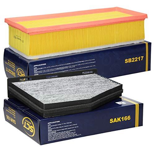 ECD Germany Inspektionspaket Wartungspaket Filtersatz Innenraumfilter mit Aktivkohle + Luftfilter