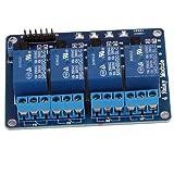 Relaistyp: Wechselschalter 4 Kanal 5V Relay Relais Module Modul für Arduino TTL-Logik