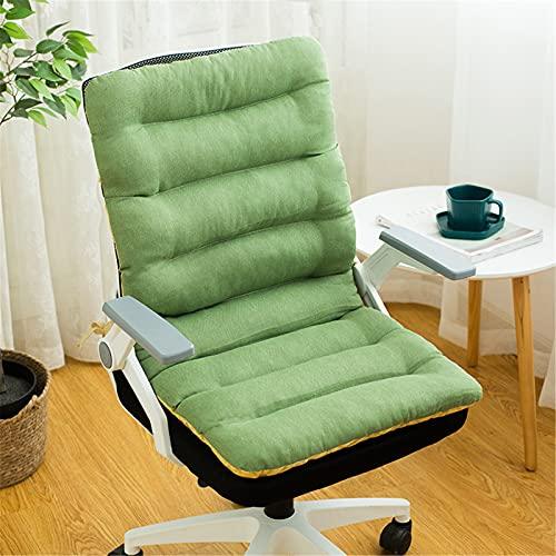 RAILONCH Cojines de respaldo bajo para silla de jardín, cojines de asiento, cojines de respaldo gruesos, cojines para silla con cintas, cojines transpirables, respaldo bajo