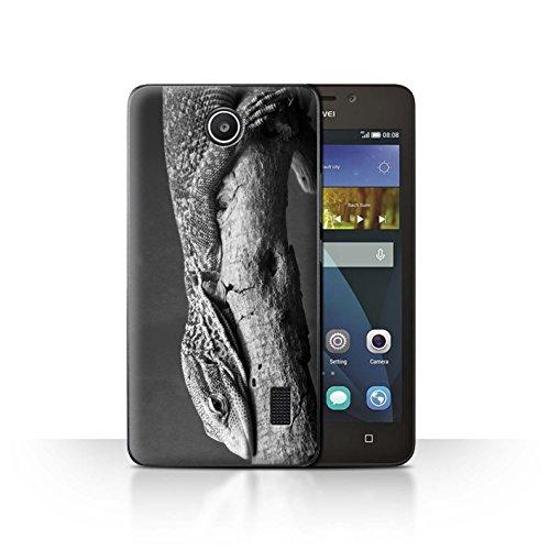 Hülle Für Huawei Y635 Zoo-Tiere Eidechse Design Transparent Ultra Dünn Klar Hart Schutz Handyhülle Hülle