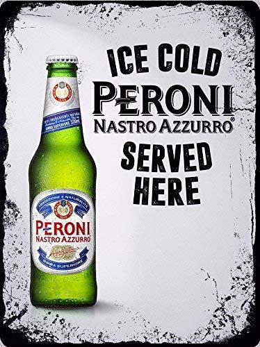 Kilburn Lager Peroni Nastro Azzurro Retro Creative Wall Decoration Personality Trend Background Simple Style Iron Painting