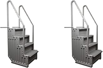 Confer Above Ground Swimming Pool Ladder Heavy Duty Step System Entry (2 Pack)