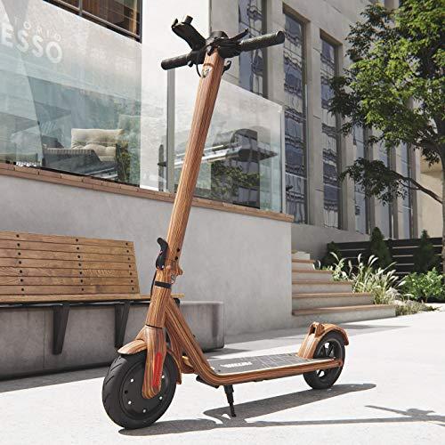 Elektro Scooter 700 W Escooter mit APP & Bluetooth Roller Elektroroller Faltbar Aluminium E-Scooter (Holz-Optik)