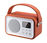 Sunstech RPBT450OR - Radio portátil (Digital FM, Altavoz, Bluetooth, micrófono, USB, SD, 2.5W RMS), color naranja