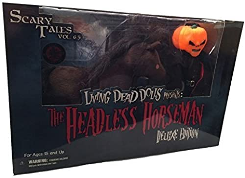 Exclusive Living Dead Dolls Deluxe Headless Horseman with Horse Glow in Dark Variant by Mezco Toyz