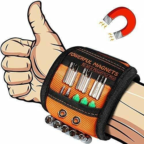 KLG Herramientas de pulsera magnéticas, regalos para hombres, papá, marido, novio, sus dispositivos geniales, cinturón magnético con un imán fuerte, utilizado para fijar el taladro de tornillo