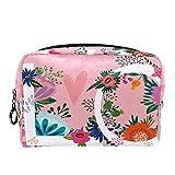 Bolsa de Maquillaje de Viaje portátil,Arte increíble Floral ,Bolsa de cosméticos para Mujeres,Bolsa organizadora de Maquillaje con Cremallera de Belleza