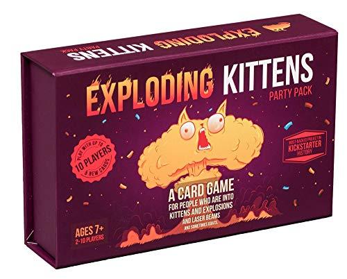 Gatitos en explosión de Juego de Cartas - Juegos de Sociedad Familiar en - Juegos de Cartas for Adultos, Adolescentes Niños ( Color : Exploding Kittens (Up to 10 Players) )