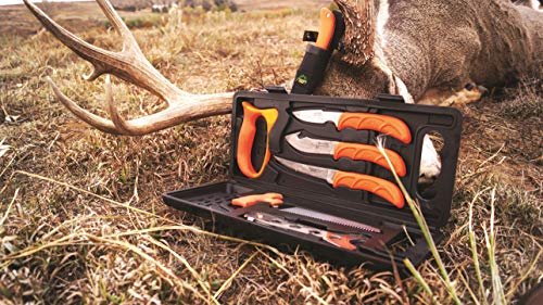 Outdoor Edge WildPak, WP-2, Field Butchering Kit for Big Game Hunting (8 Pieces)