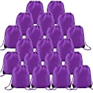 Purple Drawstring Bags Cinch Backpack Large Durable Pull String Gym Sack Bag Multipurpose Drawstring Backpack Bulk Set of 20 for Men Women