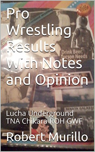 Pro Wrestling Results With Notes and Opinion: Lucha Underground TNA Chikara ROH GWF (Results & more Book 2) (English Edition)