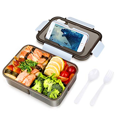 Lunch Box, Leakproof Bento Box for Kids Adults, 1.5L Food Container with 3...