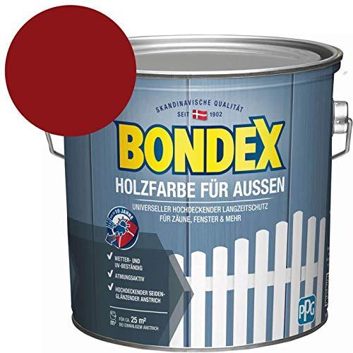 Bondex Holzfarbe für Aussen Schwedenrot 2,5 l - 435472