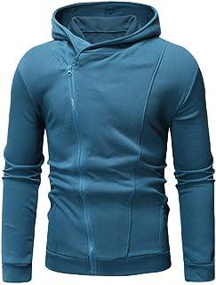 IFOUNDYOU Plus Size Men Sweatshirt, Mens Long Sleeve Patchwork Cardigan Coat Casual Jacket Autumn Winter Hooded Sweatshirt...