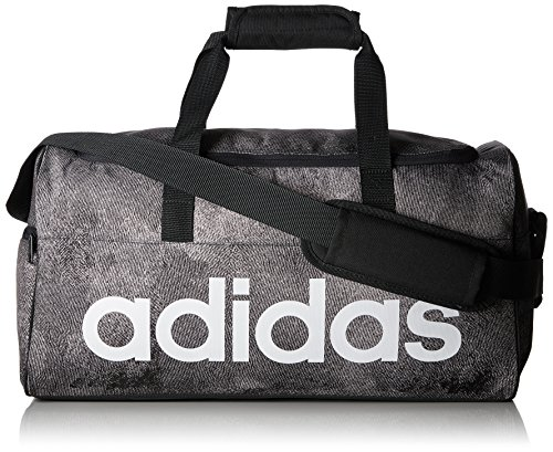 adidas Unisex-Erwachsene LIN PER TB S Sporttasche, Grau (Pertiz/Negro/Blanco), 24x15x45 Centimeters (W x H x L)