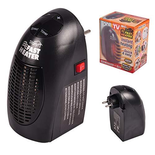 Fast Heater Visto en TV Calefactor Cerámico 400W Calentador Eléctrico, Portátil y...