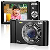Vnieetsr Digitalkamera 2.7K Ultra HD Mini-Videokamera 44MP 2.8 Zoll LCD Wiederaufladbare Studententaschenkamera mit 16X Digitalzoom-Kamera für Kinder, Erwachsene, Anfänger