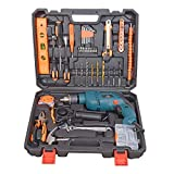 Aimex MS and Plastic 650W Professional Tool Kit with Drill Machine for Home (Multicolour) - Pack of 115