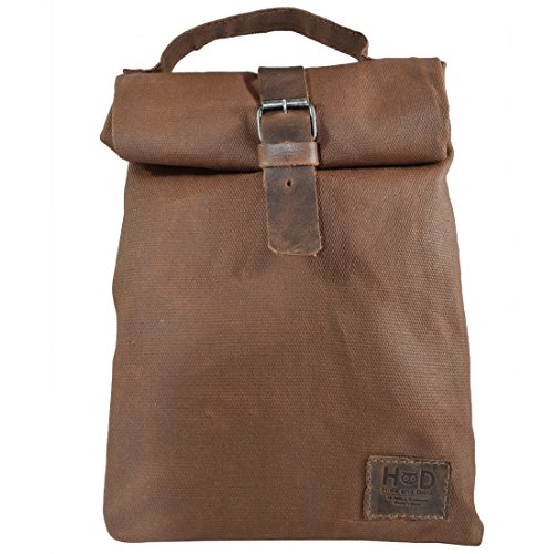 Hide & Drink, Waxed Canvas Insulated Reusable Lunch Bag with Grip,...