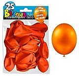 25 BALLONS BAUDRUCHES - DECO SALLE - Haute qualité - Garantie air et hélium (ORANGE)