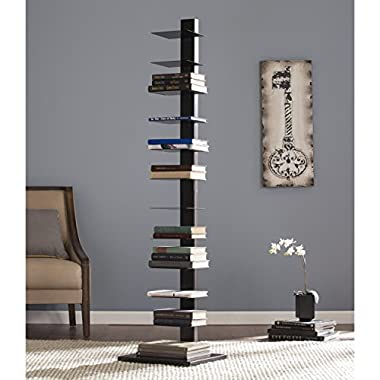 Southern Enterprises AMZ3949ZH Spine Tower Shelf, Black