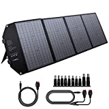 powkey 100W 18V Panel Solar Portátil, con Tipo C, USB C, 2 * QC3.0, salida de DC, Tecnología TIR-C, Paralelo y Plegable, para la mayoría de Generación Solar, Camping, Móviles y Portátiles