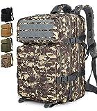 Doshwin Taktischer Rucksack Survival Tactical Militärrucksack Tarnrucksack US Army Molle Assault Pack für Herren Damen (Laserschnitt) / 40L (ACU)
